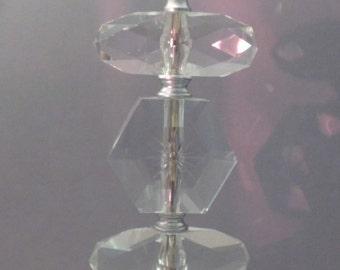 Art Deco Crystal Lamp / Crystal Lamp / Art Deco Lamp / Table Lamp / Hollywood Regency Decor / Tall Lamp