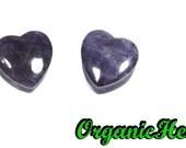 "Amethyst Heart Shaped Plugs 0g-5/8"" (Sold as Pair) Handmade Body Jewelry (0g, 00g, 7/16"", 1/2"", 9/16"", 5/8"")"
