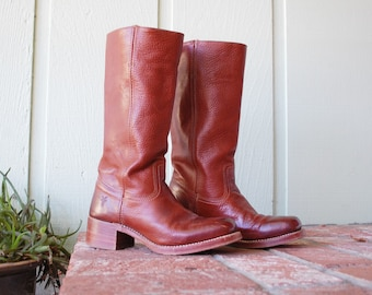 Vintage Womens 9 Frye Riding Boots Tall Boot USA Equestrian Classic Authentic Campus Pull On Fall Autumn Boho Fashion Hipster Cyber Monday