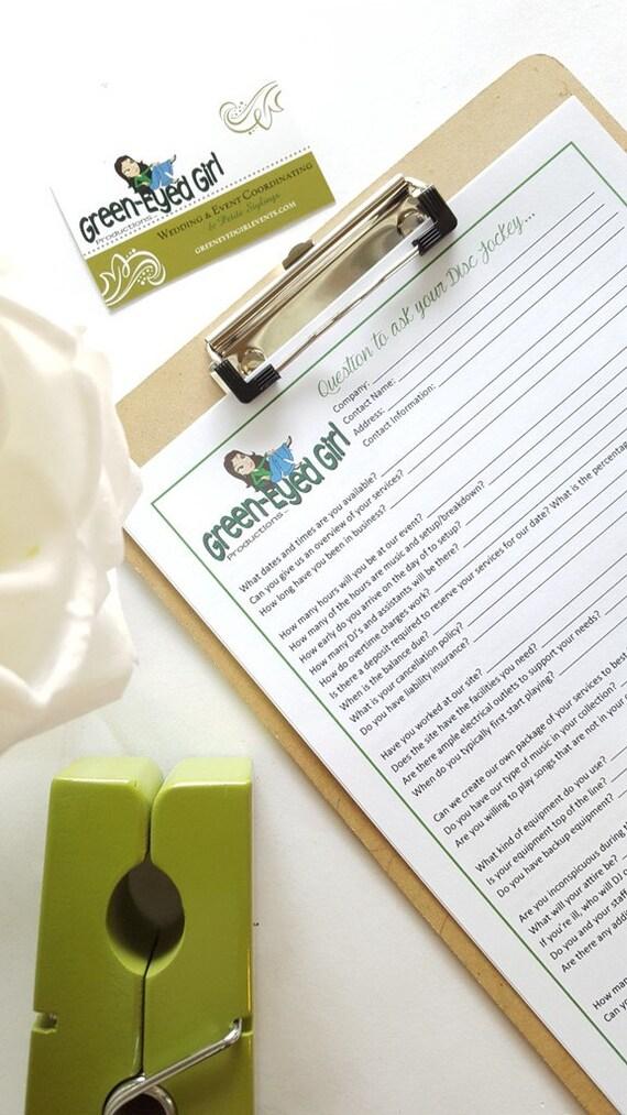 wedding dj 39 s questions to ask worksheet digital file pdf. Black Bedroom Furniture Sets. Home Design Ideas