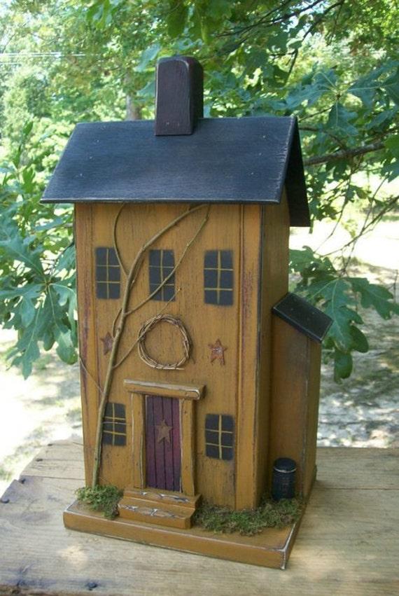 Primitive Birdhouse Saltbox Saltbox Birdhouse Rustic