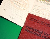 Vintage Identity Document 1983 - Union card of USSR Trade Unions - unions school of communism - blank form - NEWER USED -Clear-Identity Card