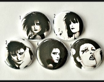 """Siouxsie Sioux 1"""" Button Choose Your Own"""