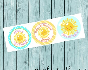 You are my Sunshine Stickers or Favor Tags