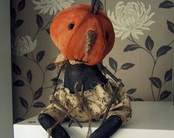 Folk Art Pumpink doll