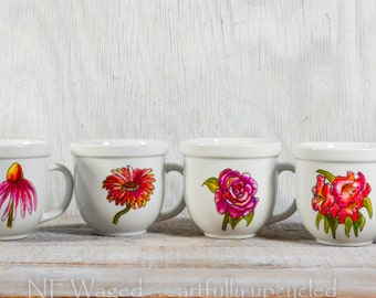 Unique coffee mugs, Hand painted coffee mugs,  gift, set of cups, original artwork
