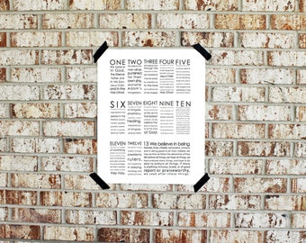 Printable - We Believe - 13 Articles of Faith - INSTANT DOWNLOAD 11x14 and 16x20