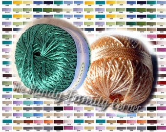Viscose Yarn Silk Summer Koprina. Rayon yarn. Crochet thread. Beadwork thread. Colour of your choice. DSH
