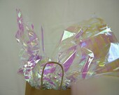 "Iridescent Gift Wrap Film Sheets, Cello Sheets, Gift Packaging Craft Supplies, Holiday Packaging, 10 Sheets 18"" by 30"""