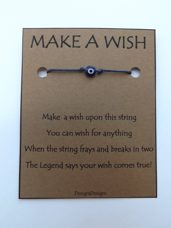 Tiny Cobalt Evil Eye Wish String