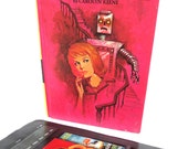 Pink Nancy Drew Kindle Case with Robot, Retro Resort Fabric, Fits Kindle Fire, Paperwhite, Voyage, Galaxy Tab, Nexus 7, LG Pad