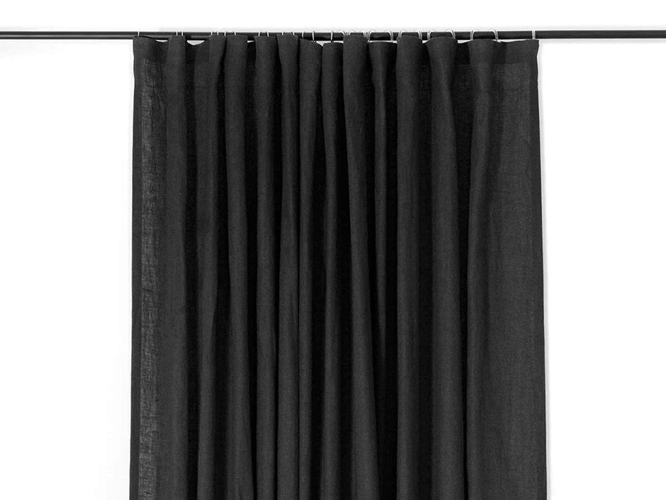 Custom Window Treatments Black Linen Curtains Or Custom Color