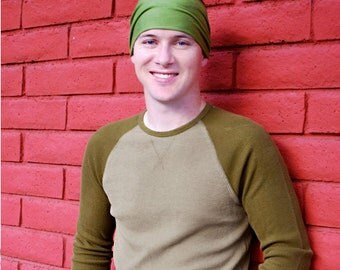 Men's Stretch Headband Green Head Wrap Scarf Head Scarf Hair Wrap Sport Hair Band Yoga Headwrap Workout Head Scarf (#1004) S M L X