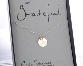 Gratitude Jewelry Thank you Gift Gratitude Gift Spiritual Jewelry Inspirational Gift Bridesmaid Gifts Strength Jewelry Best Friend Gift