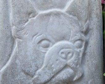 Concrete BOSTON TERRIER PLAQUE