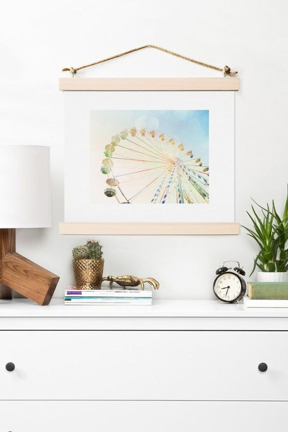 Art Print ~ Fun Park Ferris Wheel Print, carnival adventure kids room decor, trendy nursery room decor gift idea, dreamy summer wall art