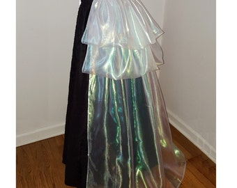 Iridescent Organza Bustle with Train- Convertible 2/3 Tiered - One Size