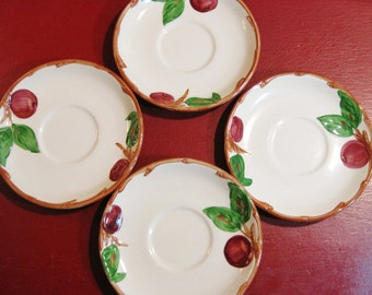 Fransican Apple Bread & Butter/Dessert Plates USA