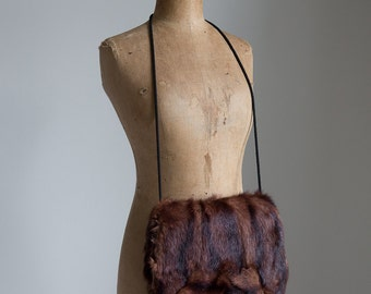 1930s Brown soft fur muff for winter