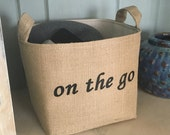 On the Go Fabric Storage Basket