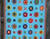 CROCHET PATTERN - Hippie Gypsy Blanket - a boho inspired afghan pattern, colorful crochet blanket pattern - Instant PDF Download