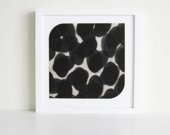 "CIJ SALE  - 50% OFF. use code { CIJSALE50} Etching Print . Pop Art. Black and white Home Decor: ""Form 11"".  Print Size 9.5"" x 9.5"""