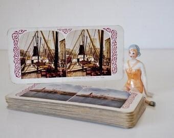 Vintage Stereoscope Cards Set of 24 International Travel Scenes
