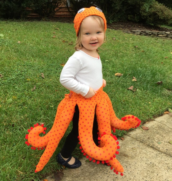 Octopus Costume Pattern for Toddlers 2 - 4