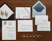 Simply Type Wedding Invitation Suite