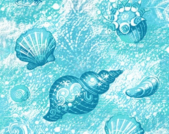 Sea Shells Beach Ocean Shore - Digital Image - Vintage Illustration - Instant Download