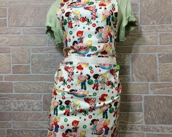 Vintage ice cream apron, candy apron, ice cream lover apron, hostess apron, novelty apron