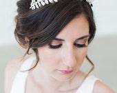 Grecian crown, Gilded silver leaves headband, silver hair vine, boho bridal headpiece, Boho Bridal Headband, Silver Leaves Headband