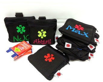 Custom Medicine Case / First Aid Case / AuviQ Case / Inhaler Case by Alert Wear