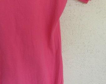 Vintage Leotard Danskin Dancewear 1970's Pink Large