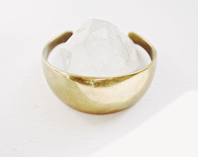 Vintage Brass Cuff Bracelet // Modern Brass Jewelry
