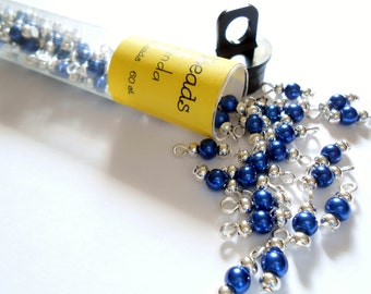 Tiny Blue Glass Dangle Beads