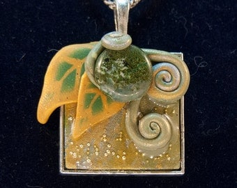 Gold & Green Fantasy Pendant