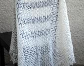 Wedding shawl, bridal shawl, lace shawl, triangular shawl, knit shawl, gift for her