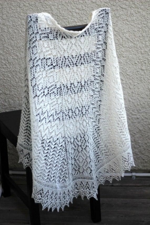 Wedding shawl, bridal shawl, bridesmaids shawl, lace shawl, triangular shawl, knit shawl, gift for her