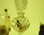 SOLD to EILEEN Preserved Wet Specimen Neonate Pictus Bat Inside Vintage Perfume Decanter
