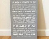 St. Francis Prayer Canvas Art, Catholic prayer, scripture art, Graduation gift, Confirmation Gift, Christian wall art