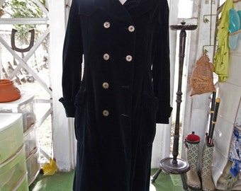 Coat, Black Coat, Long Coat, Black Microfiber Coat, Velvety Coat, Black Jacket, Lightweight Coat, Maxi Coat, Opera Coat, Costume Coat