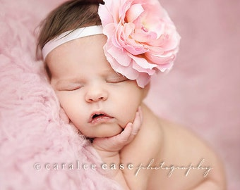 Baby headbands - Baby girl headband - Newborn Photography prop - Baby Hair Accessories - Pink baby hairbows - Infant headbands - Baby Bows
