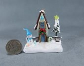 Handcrafted Christmas Fairy House Scene  OOAK by O'Dare