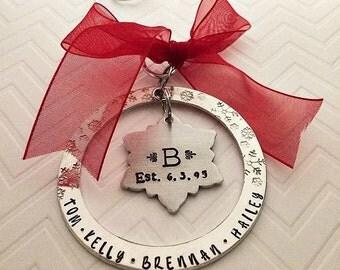 Family Ornament, Custom Ornament, Personalized Ornament, Christmas Ornaments