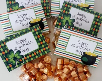 St. Patrick's Day Favor Bags Gift Bags Digital Download Bag of Gold