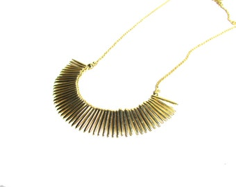 Modern Mini Bar Delicate Necklace.Match Stick Necklace. T Gold Plated Jewelry. Fringe Necklace.