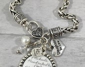 Daughter in Law Bracelet / Future Daughter in Law / Brides Gift / Bridal Shower Gift / Wedding Jewelry / Wedding Bracelet / Bride to be Gift