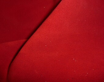 "Suede Leather 8""x10"" Red Suede Garment Grade Cowhide 3.5-3.75 oz / 1.4-1.5 mm PeggySueAlso™ E2825-04"