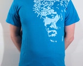 Jesus Christ ICON T-Shirt - Sapphire Blue, Size M